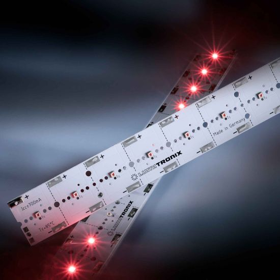 PowerBar V3 LED Module Aluminium hyper-Red 660nm 700mA 12x Osram Oslon SSL LEDs 29cm