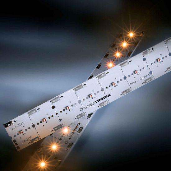 PowerBar V3 LED Module Aluminium yellow 590nm 1640lm 700mA 12x Osram Oslon SSL LEDs 29cm (5656lm/m)