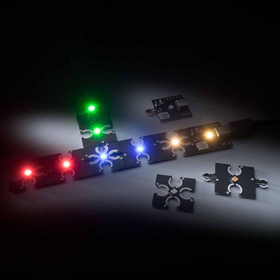 ConextPlay female module blue 1 LED 2.5x2.5cm 5V 2lm 0.1W