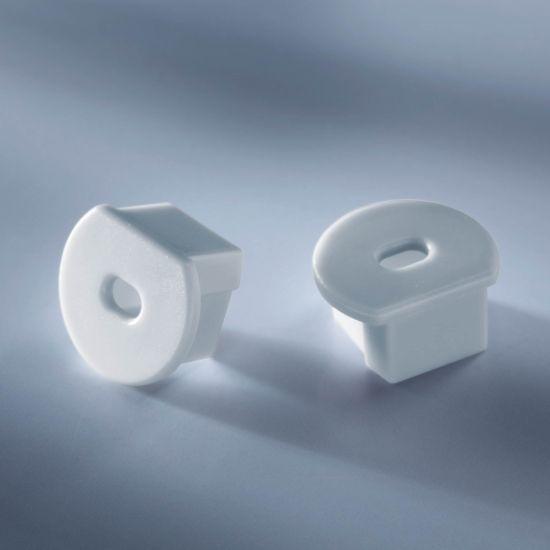 Open end cap for Aluflex Aluminum Profile for LED strips round 1020mm