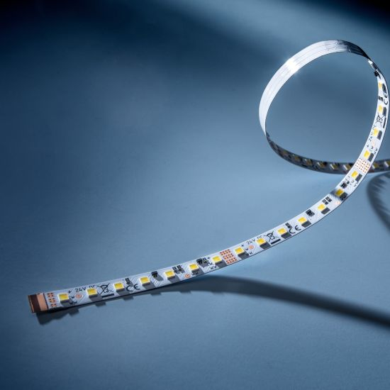 LumiFlex560 PRO Nichia LED Strip 2 in 1 TW 2700-6500K 4450lm 24V 112 LEDs/m 5m roll (830+890lm/m and 7.68W/m)
