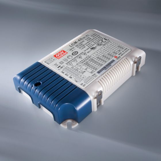 Constant Current LED Driver Mean Well LCM-40 IP20 350 > 1050 mA 230V to 2 > 100VDC DIM