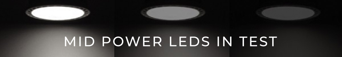 Mid Power LEDs performance comparison test: Nichia 757 LEDs in first place