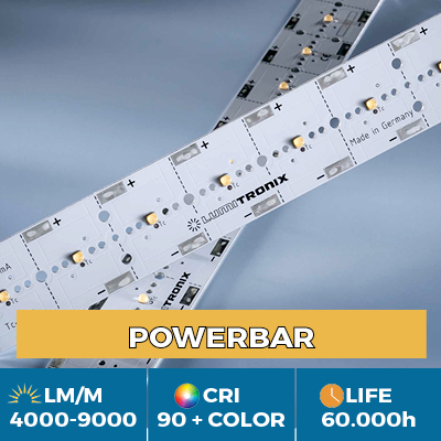 Professional PowerBar modules, up to 11,000 lm / m, white, color and UV light