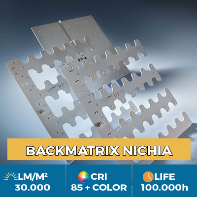 Professional BackMatrix Nichia LED modules, up to 39,000 lm / square meter