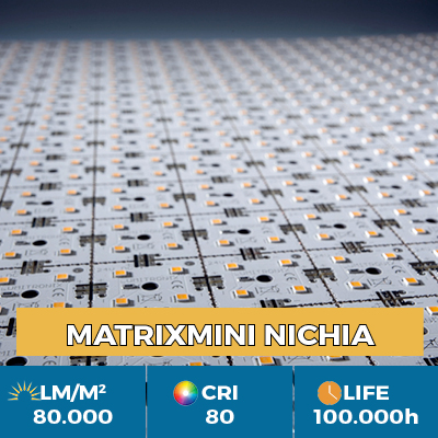 Professional MiniMatrix LED Nichia module, up to 80,000 lm / square meter