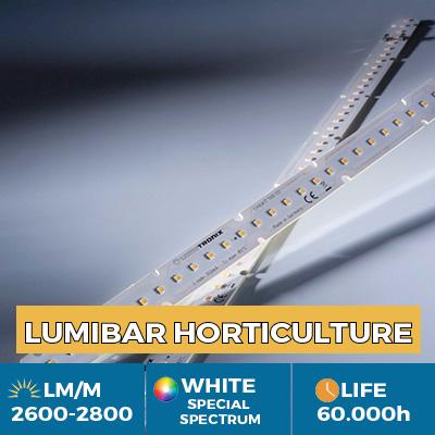Professional LinearZ LED module Nichia Optisolis, White Solar CRI98 +, Plug & Play Zhaga, 3600 lm / m