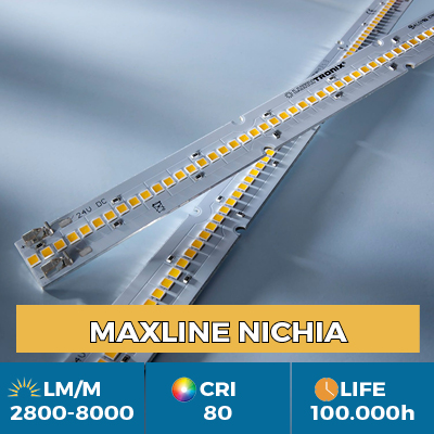 Professional Maxline LED Strips, Plug & Play, luminous flux up to 8000 lm / m