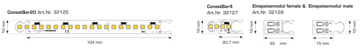 Module ConextBar Alb Cald CRI90