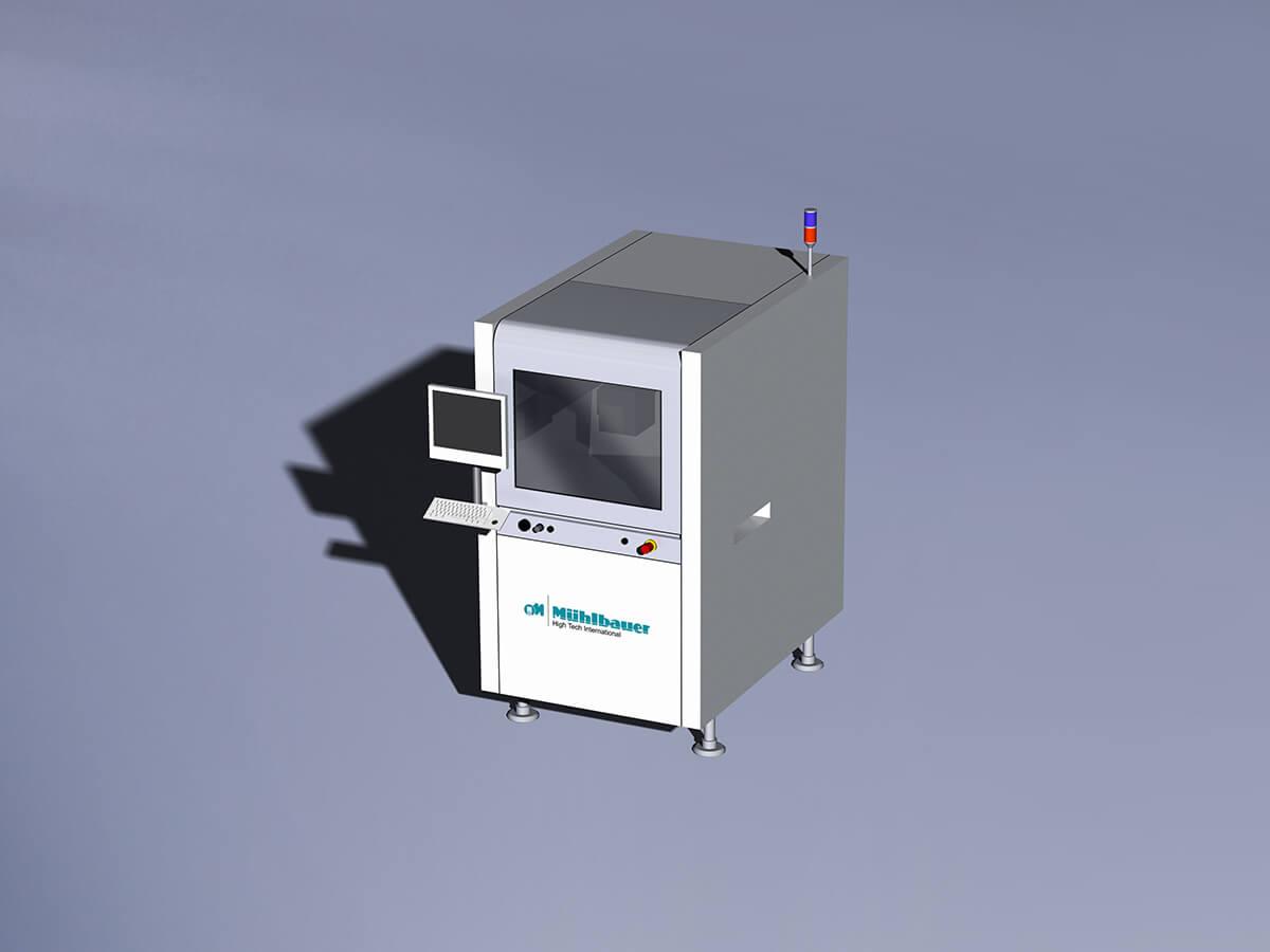 Laser marking station Nichia production line
