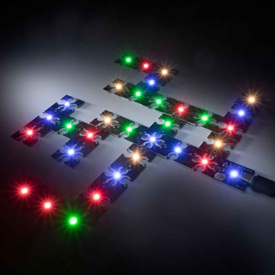 ConextPlay male module warm white 1 LED 2.5x2.5cm 5V 10lm 0.1W