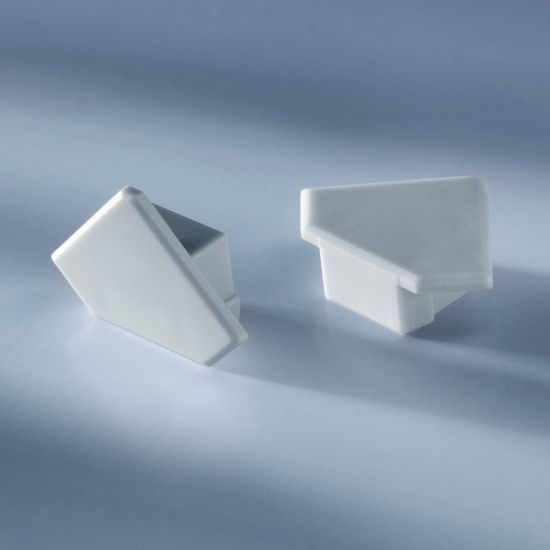 Closed end cap for  Aluflex Aluminum Profile for LED strips corner 1020mm