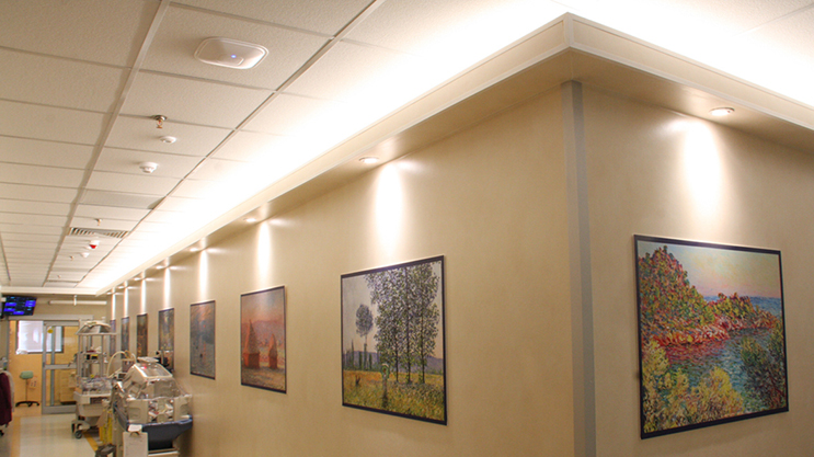 Project with Lumiflex LED strips: Children's Hospital ward lighting, on 24/7