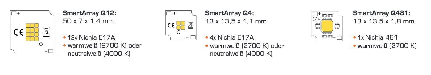 50x 3014 LED Warmweiss