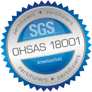 OHSAS 18000 health and safety management system.